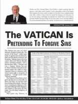 1-2017 The Vatican Is Pretending To Forgive Sin