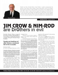 08-2015 JIM CROW & MIN-ROD are brothers in evil
