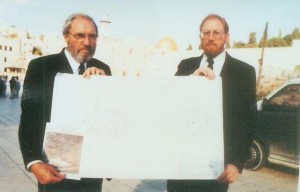 Yisrayl Hawkins and Shaul with temple plans